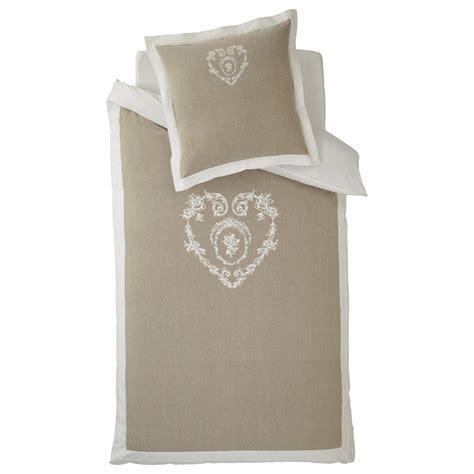 da letto beige parure da letto beige in cotone 140 x 200 cm camille