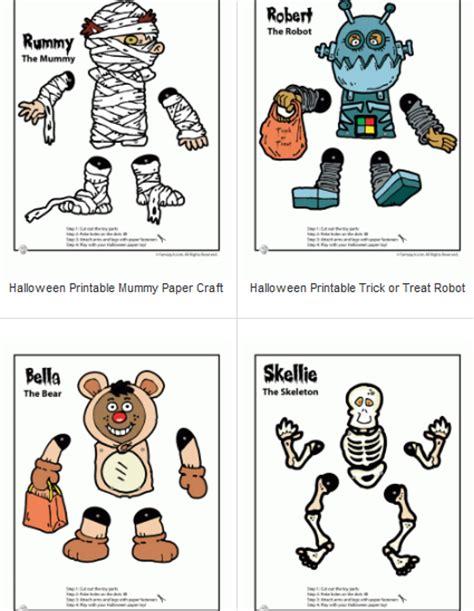 printable paper halloween crafts halloween printables 4 mom page 2