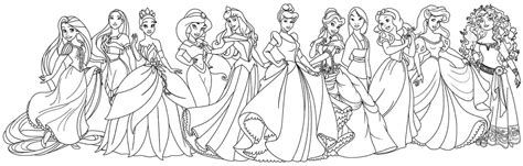 Coloring Pages Of Princesses by Disney Princess Coloring Pages For Free Coloring Sheets