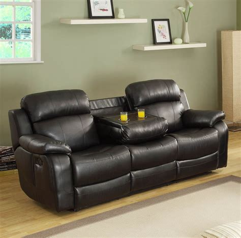 loveseats with console homelegance marille double reclining sofa w center drop
