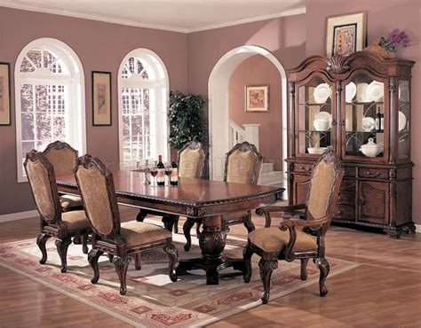elegant dining room antique style brown elegant dining room extendible table