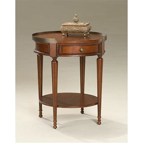 solid wood accent tables round solid wood accent table with gallery 7197772 hsn