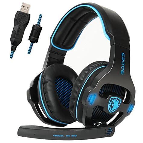 Murah Earcup Sades 903 Blue sades sa903 usb 7 1 surround sound stereo gaming headset with mic