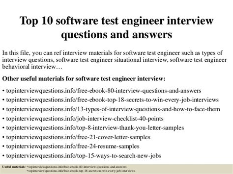 test engineer top 10 software test engineer questions and answers