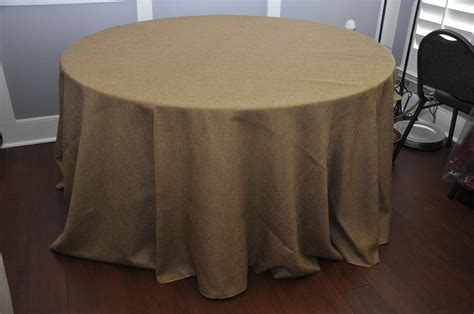 Burlap Table Linens Table Cloth 120 Wheat Faux Burlap Linens And