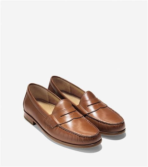 pennie loafers lyst cole haan ascot loafer in brown for