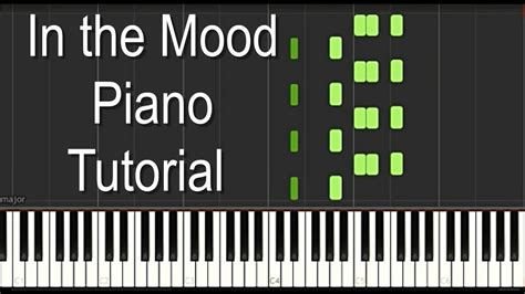 tutorial piano in the mood quot in the mood quot piano tutorial intermediate level youtube