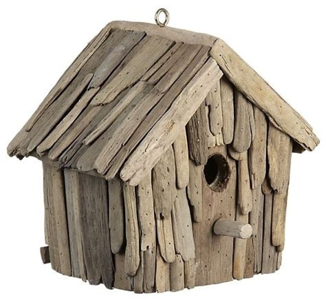 Decorative Driftwood For Homes Driftwood Birdhouse Eclectic Birdhouses By Crate Barrel