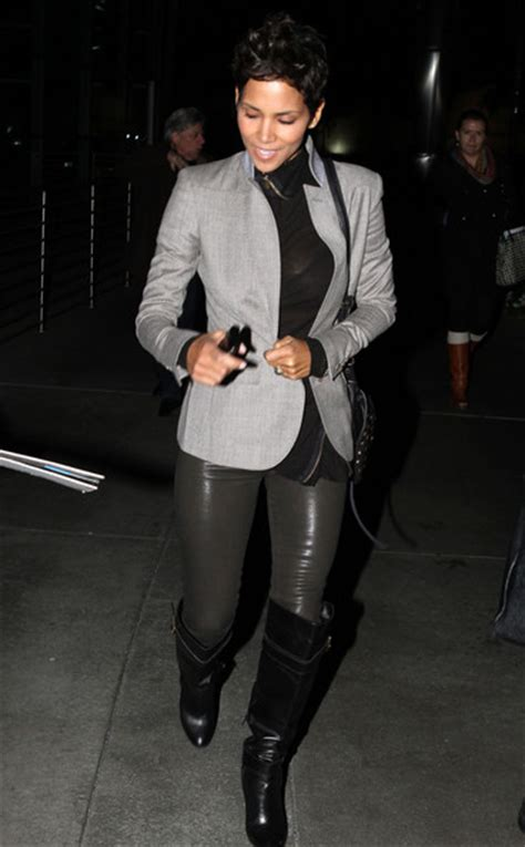 Halle Berry Gets On Knees For A by More Pics Of Halle Berry The Knee Boots 3 Of 3
