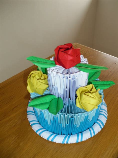 3d Origami Cake - 3d origami cake by justtree on deviantart