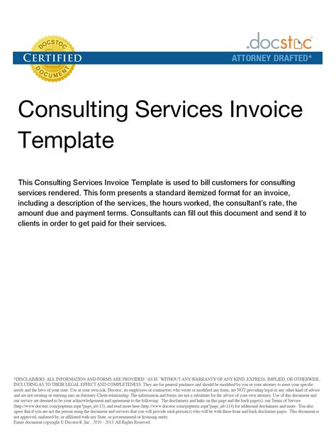 ideas consultancy services consulting services invoice invoice template ideas