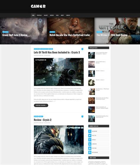 templates blogger for games 25 free responsive blogger templates 2016 free download