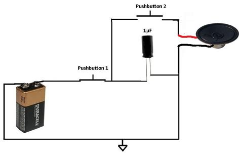 how to apply a pulse to a speaker using a capacitor