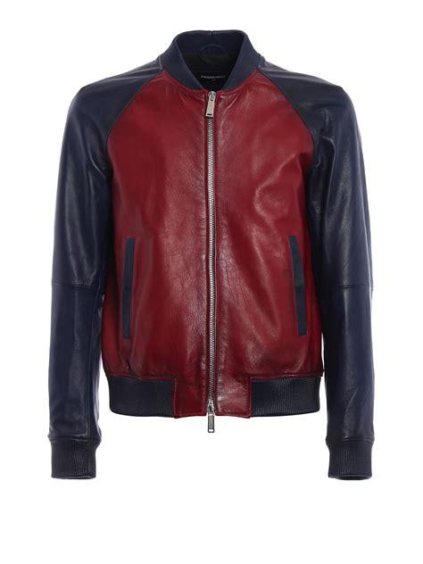 two tone leather bomber jacket by dsquared2 leather jacket ikrix