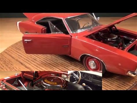 1968 Dodge Charger R T Bronze 1 18 Auto World 1075 review 1 18 1968 dodge charger hemi r t by ertl authentics
