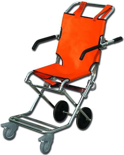 sedia scendiscale sedia portantina da evacuazione a 4 ruote in acciaio con