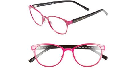 kate spade new york ebba 50mm reading glasses in pink lyst