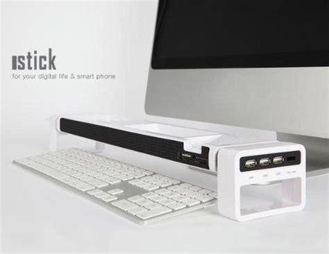 Istick Desk Organiser by Duronic Istick White 3 Port Usb Hub Multi Card Reader