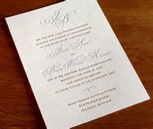 black tie invited wedding monogram letterpress wedding invitation gallery black