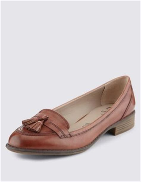 loafers marks and spencer leather wide fit tassel loafers m s