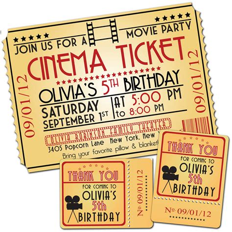 movie night party invitation movie night birthday party themed invitation by paperpartyco