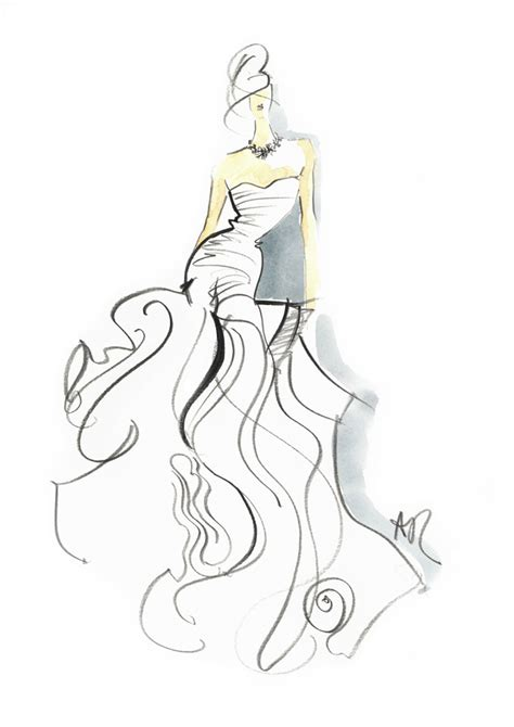 design drawing wedding gown sketch wedding gown sketches