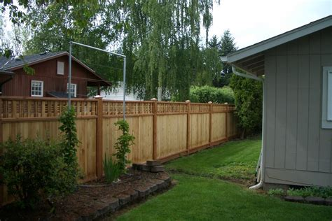 fences for backyards consider it done construction backyard fence
