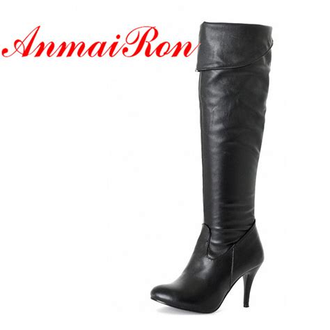 anmairon boot new fashion high heel knee thin heel