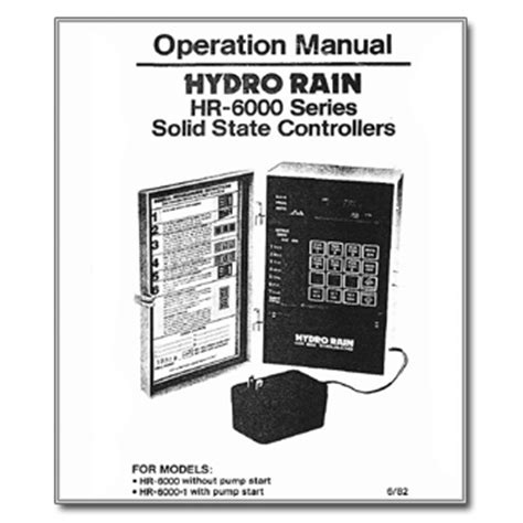 Types Of Garden - hydro rain hr 6000 controller manual archives the watershed official controller manuals library