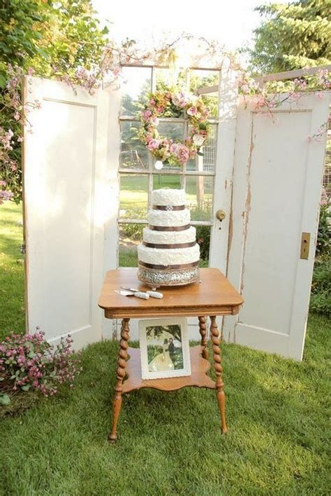 rustic wedding decoration ideas  vintage doors