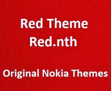 nokia x2 red themes red theme red nth download original nokia x2 theme