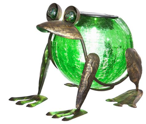 Quirky Solar Frog Lantern Eclectic Outdoor Lighting Solar Frog Light
