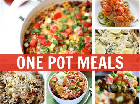 one pot meals for dinner one pot meals to make dinnertime a