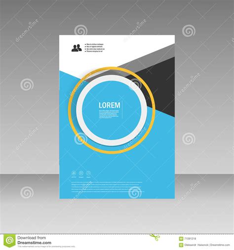 cover layout image vector leaflet brochure flyer template a4 size design
