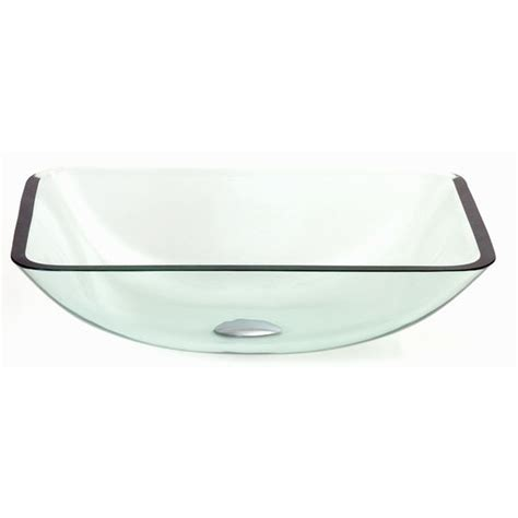 rectangular clear glass vessel sinks vessel tempered clear glass vessel bowl for