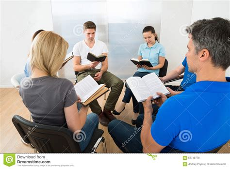 Reading Friends by Friends Reading Bible Stock Photo Image 57719779