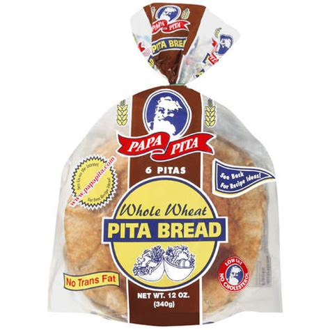Blouse Pita Ip papa pita 6 whole wheat pita bread 12 oz walmart