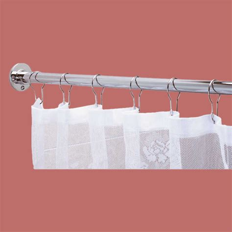 how long is a shower curtain rod shower curtain rod bright chrome 6 feet long