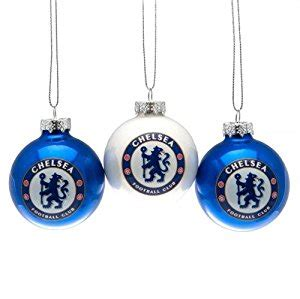 chelsea fc official xmas gift 2pk baubles christmas