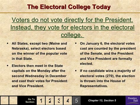 chapter 13 section 5 the election government chapter 13 powerpoint