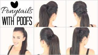 high ponytail with poof hairstyle 7 simple steps 2 puffed up crown hairdo hairstylegalleries com