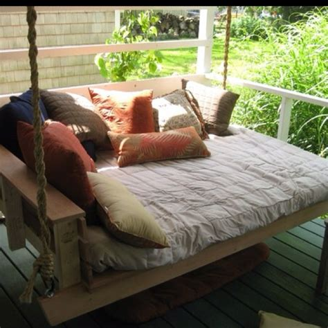 porch swing bed outdoor living pinterest