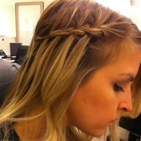 braid thin hair thin hair waterfall braid hair obsessed pinterest