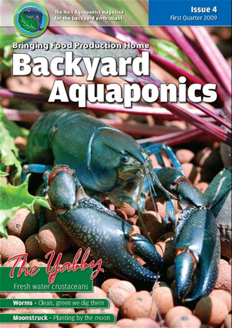 backyard aquaponics emagazine edition 4 backyard magazines