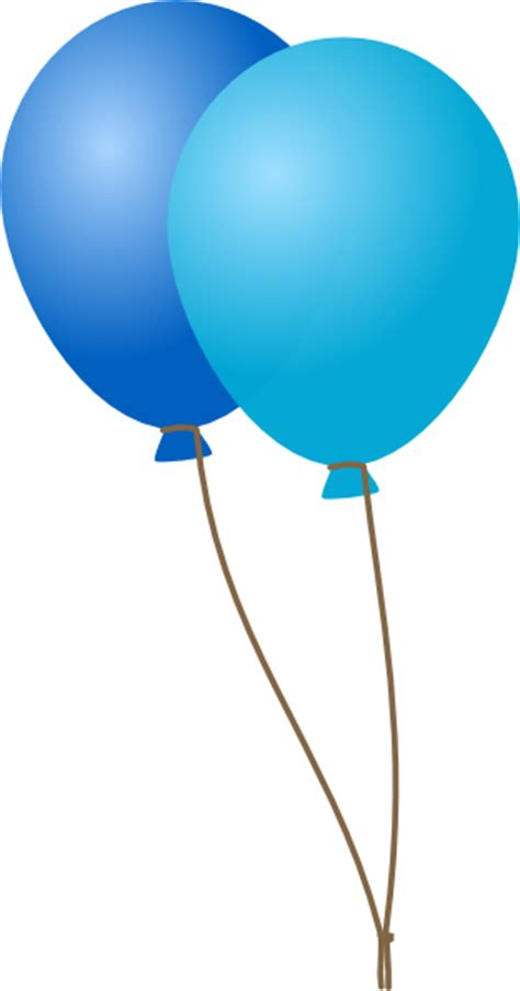 Balloon String - emmas blue balloons clip at clker vector clip