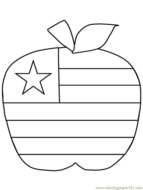 free coloring pages of usa flag