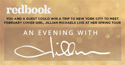 Redbook Com Sweepstakes - redbook an evening with jillian sweepstakes redbookmag com nycjillian