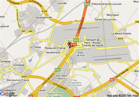 cdg map cdg airport hotels map
