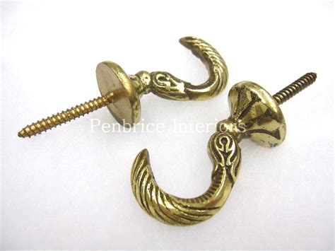 tie back hooks for curtains 2 brass curtain tassel hooks dolphin tie back wall hooks