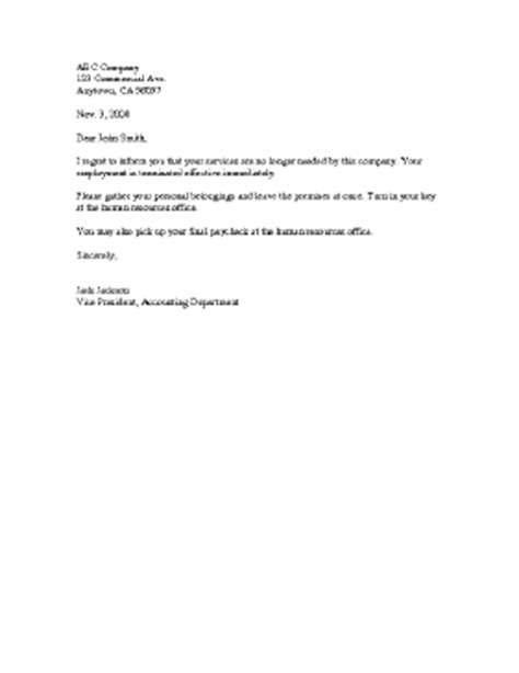 employee termination notice template